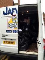 Last van load full of donations off to the refugees